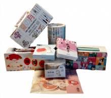 Kit n°1 Japanese Style Washi Tape - 18m total scotch und 210 Aufkleber - Ideal Scrap booking