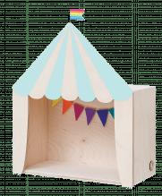 Kinderzimmer Zirkuszelt-Regal 'Big Top' – Mintgrün