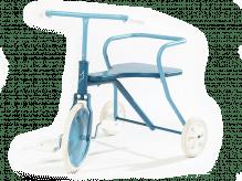 Blaues Vintage Dreirad für Kinder ab 1,5 Jahren