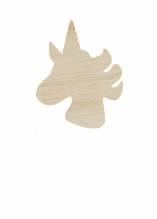 Applique licorne en bois