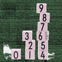 Holzklötze mit Zahlen – Rosa