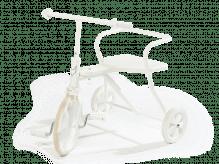 Tricycle vintage blanc pour enfants de 1,5 ans et plus