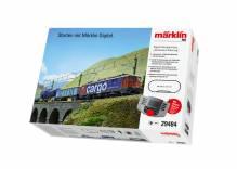 H0 Märklin 29484 Digital-Startpackung 'Schweizer Güterzug' mit Lok Ae610 1:87 für 230 Volt