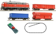 H0 Fleischmann 631403 - Coffret numérique débutant BR 218 avec train de marchandises 'DB' 1:87 pour 230V