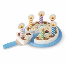 Geburtstagskuchen Spielzeugset aus Holz