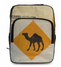 Rucksack aus recycelten Zementsäcken - Dromedar beige-ocker