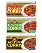 Set mit 3 einfachen japanischen Curryzubereitungen: Süß/Mittel/Pikant 3x92g