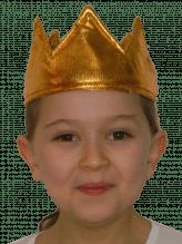 Goldene Krone aus Stoff