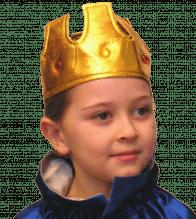 Goldene Krone aus Stoff mit Steinen