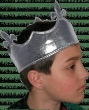 Silberfarbene Krone aus Stoff