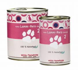 Hundefutter Wittis Huhn - Lamm - Gemüse - Reis