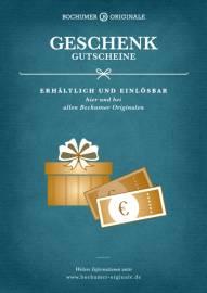 Geschenkgutscheine Bochumer Originale