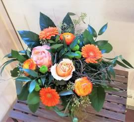 Blumen Rose, Gerbara, Ranunkel