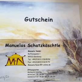 Gutscheine Geschenkgutscheine Manuelas Schatzkäschtle