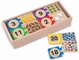 Holzsteckpuzzle Lernspielzeug ABC-Lernspielzeuge Sortier-, Stapel- & Steckspielzeug Melissa & Doug