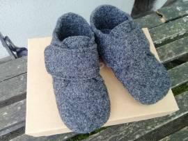 Schuhe Pompom Lauflernschuhe wool Wollfilz