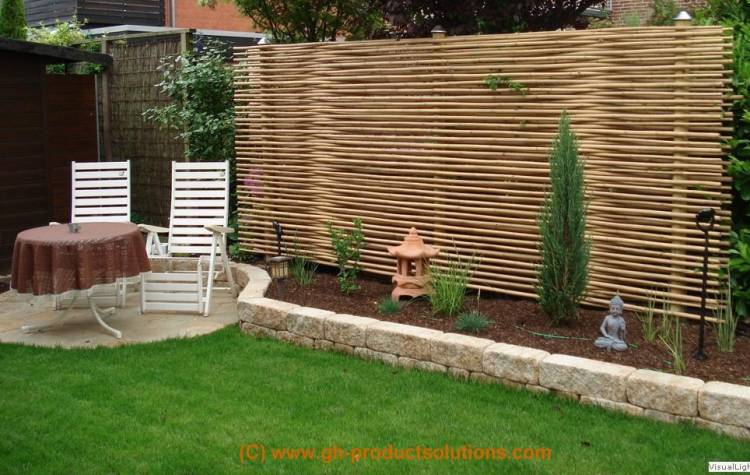 bambus sichtschutz element 420