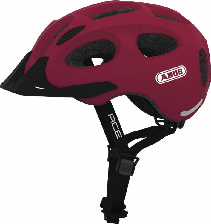 Abus Fahrradhelm Youn I Ace Cherry Red