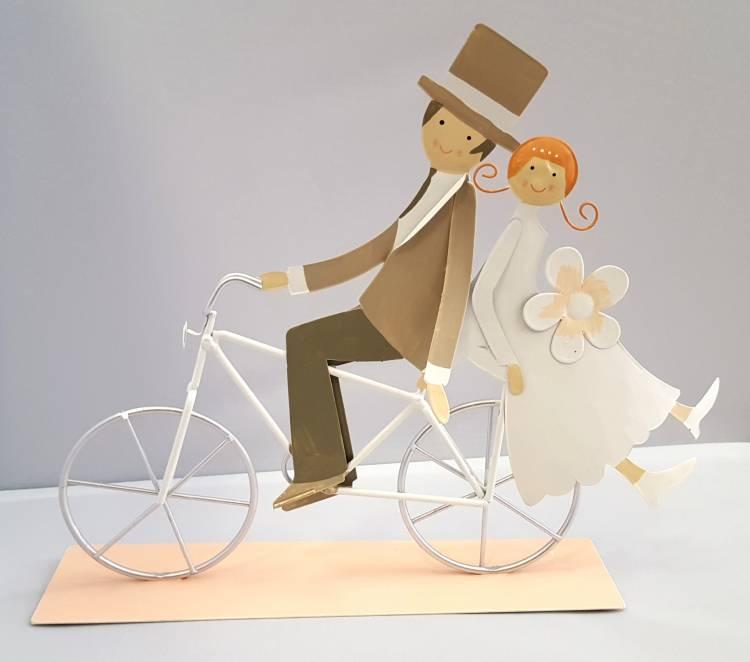 Baden Metall Fahrrad Mit Brautpaar Ideales Hochzeitsgeschenk Auch