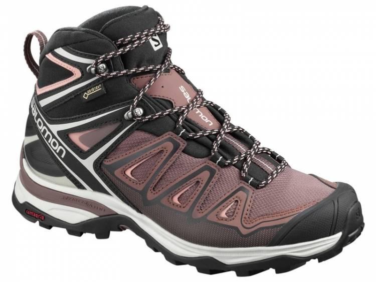 Salomon Trekkingschuh X Ultra 3 Mid GTX Damen Farbe: peppercornbk L40814400