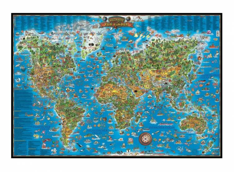 Kinder Weltkarte In übergröße Gerahmt Dortmund