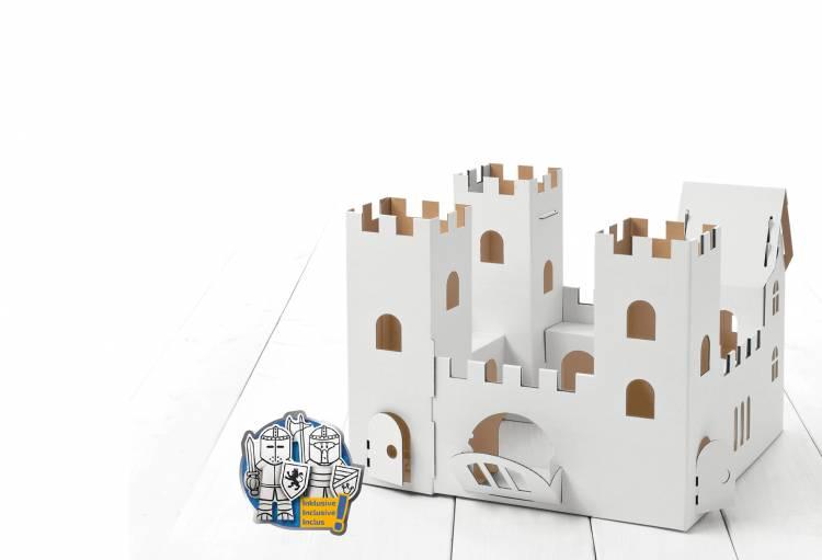 Château fort en carton à construire