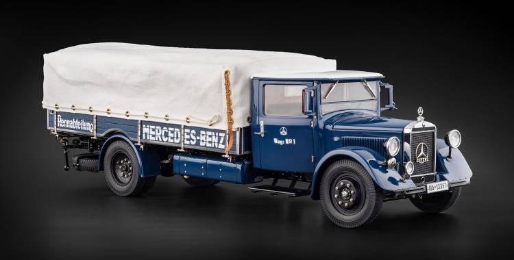 1 18 Cmc M 144 Mercedes Benz Camion Lo2750 Transporteur Voitures De Course De L Usiner De 1934 38 Voiture Miniature