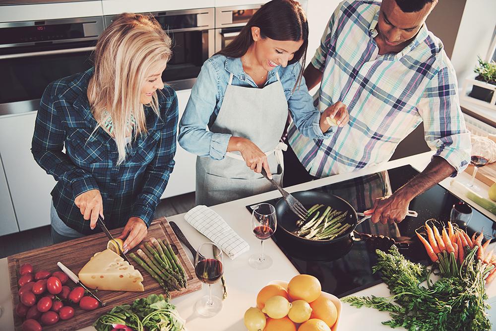Kochabende mit Freunden