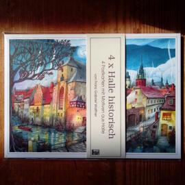 Illustration Papierkunst und Buchgestaltung Geschenkanlässe Jubiläum Geburtstag Weihnachten Anti-Stress Halle (Saale) regionale Produkte Postkarten Briefpapier Poster & Bildende Kunst Gemälde & Bilder