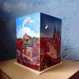 Papierkunst und Buchgestaltung Illustration Weihnachten Geburtstag Kerzen & Lichter Halle (Saale) regionale Produkte Nachtlichter & indirekte Beleuchtung