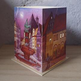 Papierkunst und Buchgestaltung Illustration Weihnachten Geburtstag Kerzen & Lichter Geschenkanlässe Halle (Saale) regionale Produkte Nachtlichter & indirekte Beleuchtung