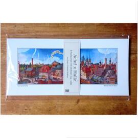 Illustration Papierkunst und Buchgestaltung Geschenkanlässe Jubiläum Geburtstag Weihnachten Anti-Stress Halle (Saale) regionale Produkte Briefpapier Postkarten Poster & Bildende Kunst