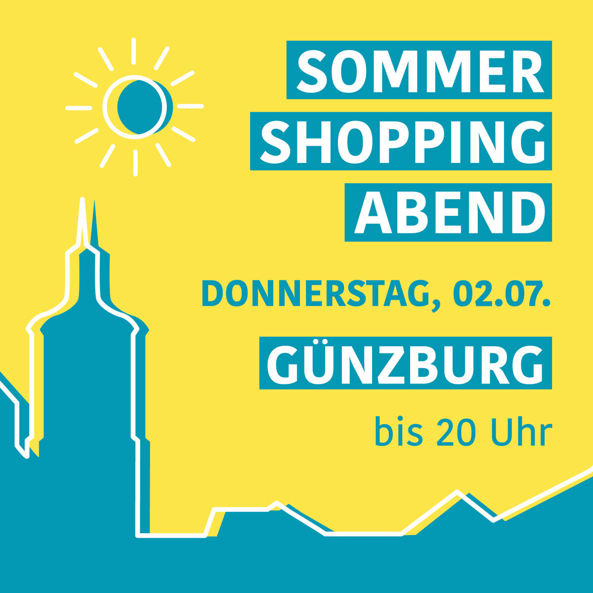 Sommer Shopping Abend