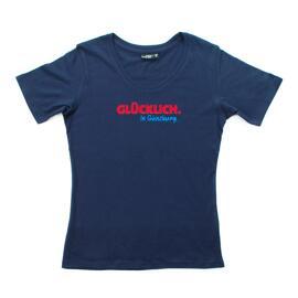 Rundhals-T-Shirts Geschenkanlässe Günzburg GLÜCKLICH. In Günzburg.