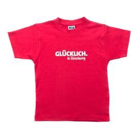 Rundhals-T-Shirts Geschenke & Anlässe Günzburg GLÜCKLICH. In Günzburg.