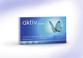 Gesundheit & Schönheit aktiv - biokompatible Monatsaustausch-Kontaktlinse mit UV-Filter - 6er Box