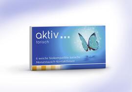 Gesundheit & Schönheit aktiv - biokompatible torische Monatsaustausch-Kontaktlinse mit UV-Filter - 6er Box