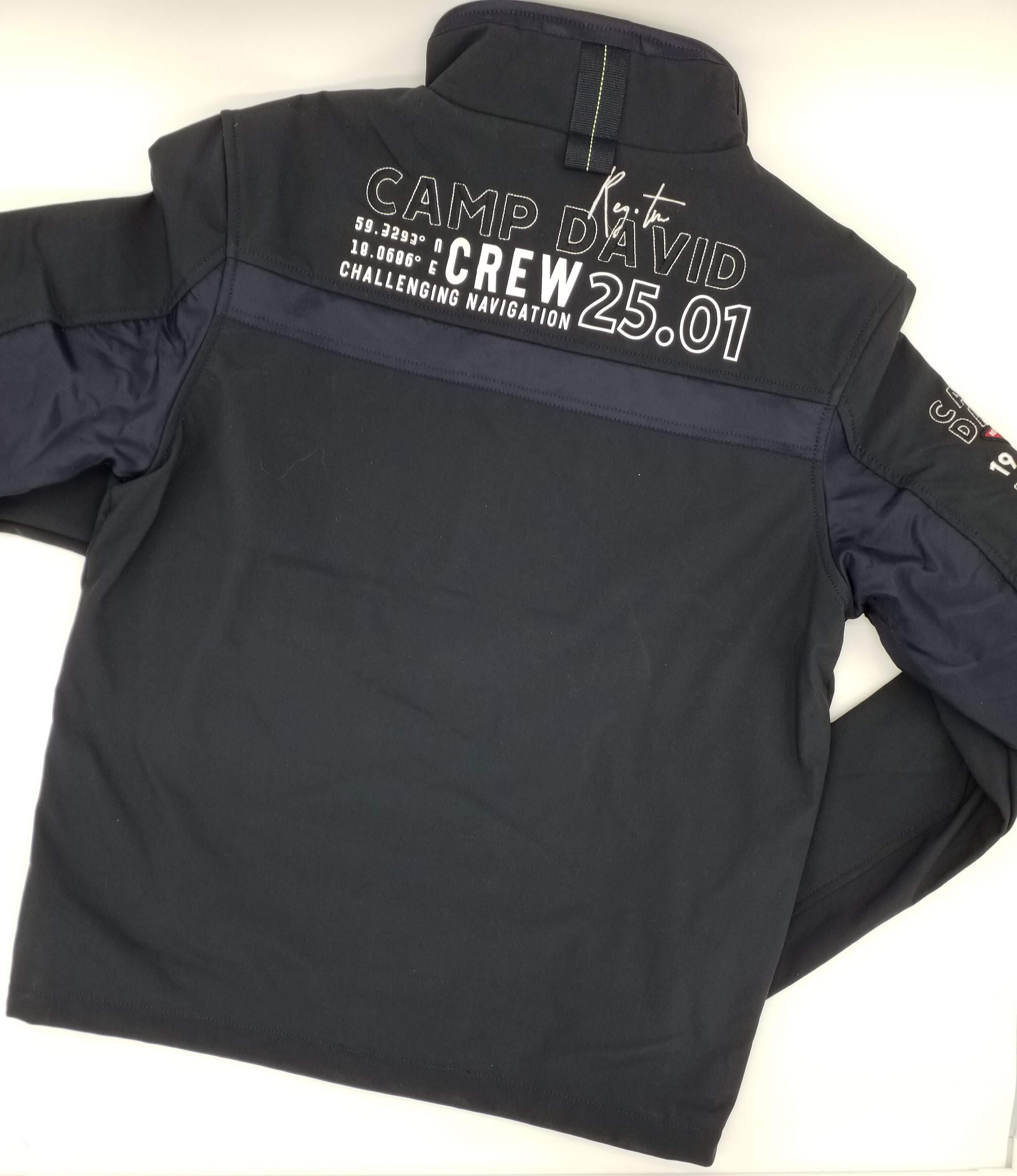 camp david softshell jacke mit brusttaschen