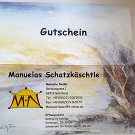 Gutscheine Manuelas Schatzkäschtle