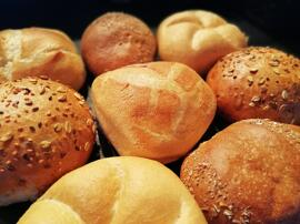 Brot & Brötchen Herzogweckla, Kaisersemmel, Roggi, Kürbiskernsemmel, Sunnaweckla