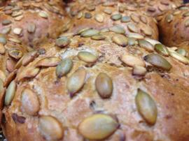 Brot & Brötchen Körnersemmel, Sunnaweckla, Kürbiskernsemmel, Dinkelvollkornsemmel