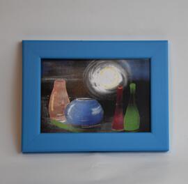 Küchen- & Esszimmergarnituren Kunst Kunst von Dettenheim-Art in einem Echtholzbilderrahmen