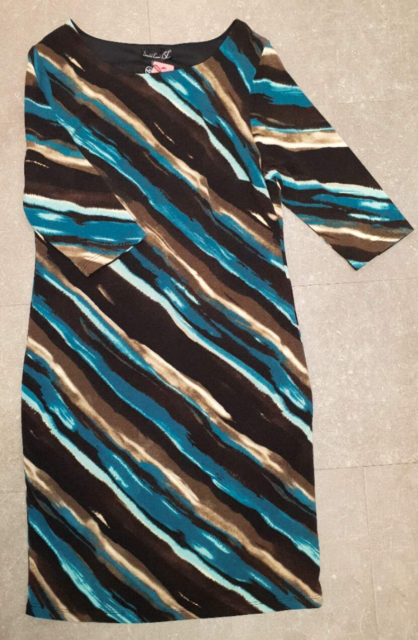 smashed lemon damenmode kleid schwarz blau grau gestreift sl18736 775 640  erhältlich bei mode schönleitner in gmunden