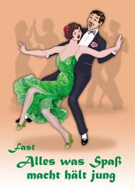 Unterhaltung Sammelkarten Ansichtskarten und Deko-Gegenstände mit Tanzpaarmotiv