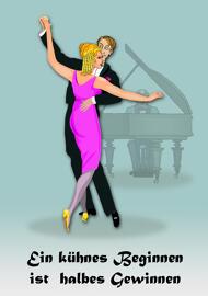 Unterhaltung Sammelkarten Tanzpaar-Ansichtskarte
