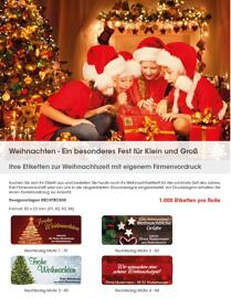 Weihnachten Versandaufkleber & -etiketten