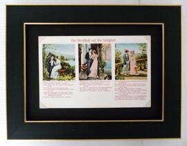 Valentinstag Geburtstag Dekoration Bilder mit historischen Motivpostkarten