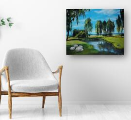 Monheim am Rhein Handmade Hobby & Kunst Gemälde & Bilder Kunst Wohnaccessoires Sammlerstücke Hobby & Kunst UllrichArt
