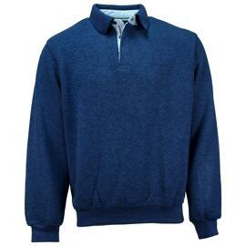 Langarm-Poloshirts Ethnic Blue