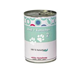 Nassfutter Nassfutter Wittis Naturkost für Hunde und Katzen - Reinfleischdose